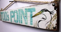 Custom Beach Sign Personalized on Reclaimed Distressed Wood -- Coastal Surf Kids Room Decor