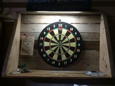 Pallet dart board surround