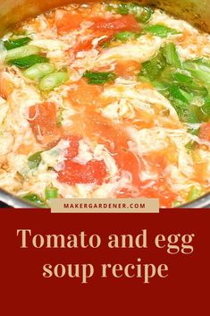 This is about a link to my blog on tomata and egg soup recipe. A classic chinese soup