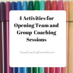 Having a robust toolkit of activities in your back pocket is a must have for team and group coaches. Building onto other posts here at the ...