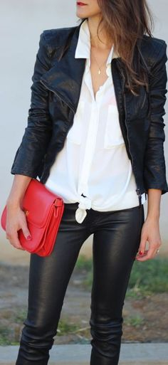 love the red clutch