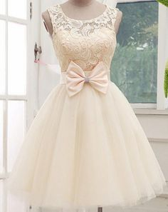ANTI 2017  Ivory Cheap Sexy Cocktail Dresses Celebrity Tulle Short Bow Vestidos De Coctel Party Prom Gowns Knee Length