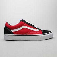 880d978e7c2a48  Vans Old Skool (Suede Canvas) Black Red Vans Old Skool
