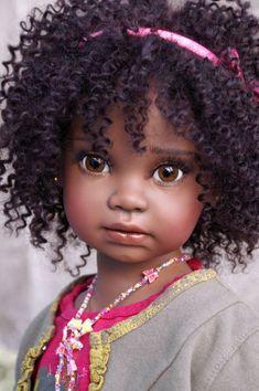 W Fine Porcelain China Diane Japan Toddler Dolls, Child Doll, Reborn Baby Dolls, Reborn Toddler, Pretty Dolls, Cute Dolls, Beautiful Children, Beautiful Dolls, African American Dolls
