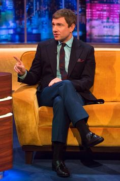 'No-one has called it that. Not even me'. #MartinFreeman denies he's the definitive Richard III. #TheJRShow
