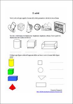 Risultati immagini per i solidi schede didattiche scuola primaria