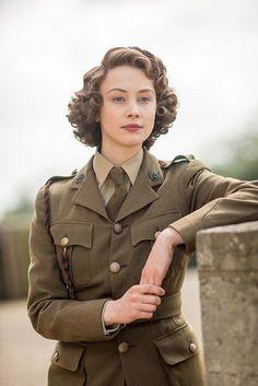 Sara Gadon as Princess Elizabeth in 'A Royal Night Out', 2015.
