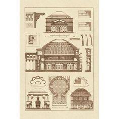 Roman Domical Vaulting by J. Buhlmann Architecture Art Print