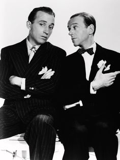 Classic Menswear: Fred Astaire & Bing Crosby, 1940's