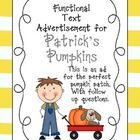 This is a functional text add on Patrick's Pumpkins. This is a great activity to do in October or around Halloween. The kids will love this activ...