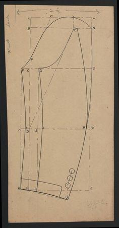 Completely unmarked pattern. Guestimate 1880s-1890s gentleman's suit sleeve