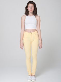 Four-Way Stretch High-Waist Side Zipper Pant #AmericanApparel #PinATripWithAA