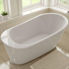 "60"" x 32"" x 25"" Gelcoat Freestand Oval White Sax Bath Tub"