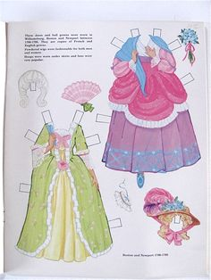 Colonial America Paper Dolls Uncut Vintage 1974 by lindapaloma