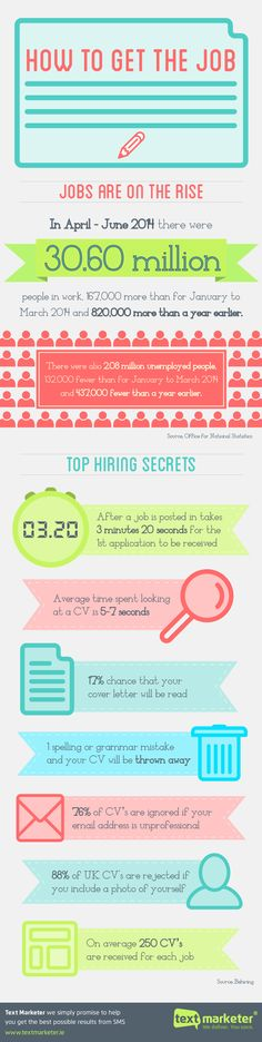 How to Get the Job #infographic #HowTo #Job #Career