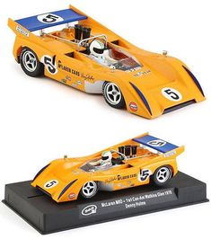 This car will work on almost any analog (non-digital) set, such as Carrera, Ninco, SCX and more. Bruce Mclaren, Can Am, Slot Cars, Diecast, Car Stuff, Vehicles, Ebay, Autos, Slot Car Tracks