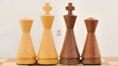 New Weighted Cone Shesham Wood Chess Set Pieces. http://www.chessbazaar.com/new-weighted-cone-shesham-wood-chess-set-pieces.html