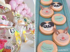 Lima Limão - festas com charme: Panda e amigos: batizado e 1º aniversário da Clarinha!