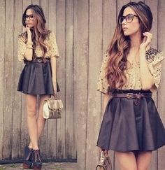 20 Outfits with Skirts for Trendy Chic Spring Look - Style Motivation Looks Street Style, Looks Style, Style Me, Girl Style, Hipster Outfits, Mode Outfits, Skirt Outfits, Look Fashion, Fashion Beauty