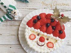 Christmas Party Menu, Japanese Christmas Cake, Food Decoration, Edible Art, Party Snacks, Food Design, Food Art, Food To Make, Cake Decorating