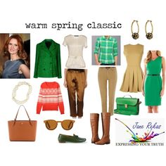 warm spring classic by expressingyourtruth on Polyvore featuring Mode, Black Label by Evan-Picone, TheP., prAna, Ralph Lauren, Aspesi, Oui, Anne Klein, Tory Burch and Lauren Ralph Lauren