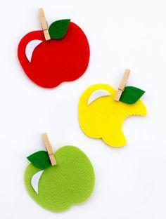 Sweet and Simple Felt Apple Craft