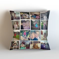 Custom Instagram Photo Collage Throw Pillow Cover