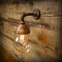 Vintage Industrial Benjamin Style Explosion Proof Sconce Glass Dome Wall Lamp   eBay