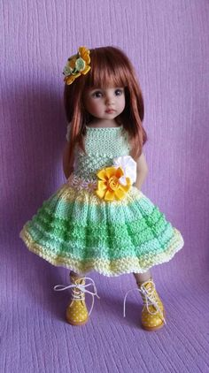 "The dress for doll 13"" Dianna Effner Little Darling hand made 