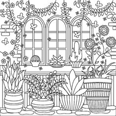 Colorfy Coloring Book Free Lovely Garden Coloringpage On Colorfy App Garden Coloring Pages, Pattern Coloring Pages, Adult Coloring Book Pages, Printable Adult Coloring Pages, Cute Coloring Pages, Mandala Coloring Pages, Coloring Books, Colorful Drawings, Colorful Pictures