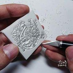 あじさいはんこ : ふわふわ堂 Personalized Items, Rings, Floral, Flowers, Jewelry, Jewlery, Jewerly, Ring, Schmuck