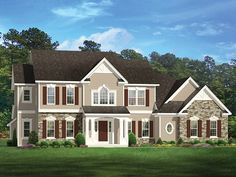 ePlans Colonial House Plan – Comfort & Luxury – 3118 Square Feet and 4 Bedrooms from ePlans – House Plan Code HWEPL77543