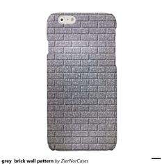 grey  brick wall pattern glossy iPhone 6 case