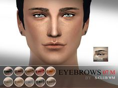 The Sims 4 : S-Club WM thesims4 Eyebrows07 M @ The Sims Resource