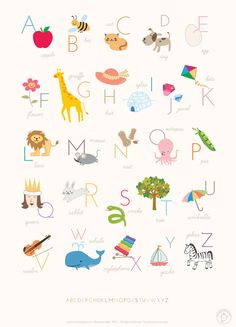 Baby's first ABCs: | 24 Awesome Nursery Wall Prints That Cost $0