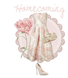 """""""Homecoming"""" by the-vintage-palace2016 ❤ liked on Polyvore featuring Miss Selfridge, Casadei and Oscar de la Renta"""