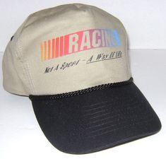 32de4d8a897 Nascar Racing Not A Sport - A Way Of Life Khaki And Black Hat Cap One Size   fashion  clothing  shoes  accessories  mensaccessories  hats (ebay link)