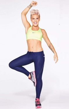 Pink's Ab Workout Routine -- some creative movements in this video.