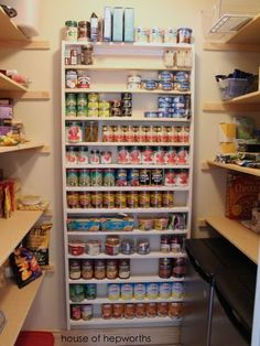 Build a shelf perfect for canned goods. Tutorial from House of Hepworths, via True Value