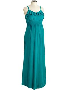 Old Navy Maternity Ruffled Jersey Maxi Dress