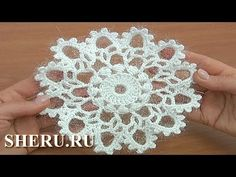 In this second part of crochet elements and projects tutorial 21 I will show you how to finish this beautiful snowflake. In this second part of crochet elements and projects tutorial 21 I will show you how to finish this beautiful snowflake. Crochet Tree, Crochet Dollies, Crochet Stars, Crochet Snowflakes, Freeform Crochet, Crochet Flowers, Crochet Square Pattern, Crochet Motif, Crochet Patterns