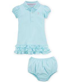 Ralph Lauren Baby Girls' Polo Dress & Bloomer Set