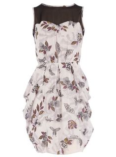 Moth drape side dress