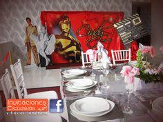Fiesta Tema y Mesa de Dulces Hollywood para los quince años de Cindy! Solo lo mejor para tu evento! @SalonGirasoles  #hollywoodparty #mesadedulces #invitacionesexclusivas #misXV #quinceaños