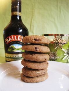 Bailey's and Andes mint cookies!!  My daddy would love me FOREVER! These would be awesome with coffee and Baileys!