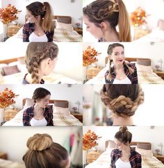 Easy Hairstyles For Long Hair Zoella Date Hairstyles, Step By Step Hairstyles, Easy Hairstyles For Long Hair, Fancy Hairstyles, Zoella Hairstyles, Mohawk Faux, Medium Hair Styles, Curly Hair Styles, Be Natural