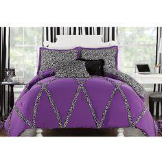 Wild Cheetah Twin Comforter and Sham Set = Hannah