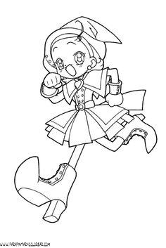 ojamajo doremi coloring pages - Google Search