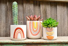 We rounded up our favorite colorful planters that are sure to cheer up your space, including finds from Target, Anthropologie, Etsy, and more. Painted Plant Pots, Terracotta Plant Pots, Small Indoor Plants, Potted Plants, Mosaic Flower Pots, Ceramic Pots, Pottery Painting, Planters, Hand Painted