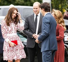 Kate Middleton, Prince William, Justin Trudeau and Sophie Grégoire Trudeau